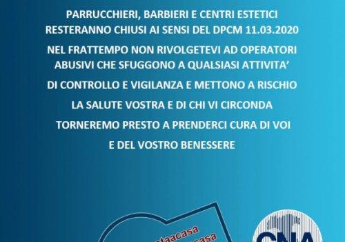 COVID-19 - CNA Benessere e Sanità - Nuovo appello di parrucchieri ed estetiste contro gli abusivi