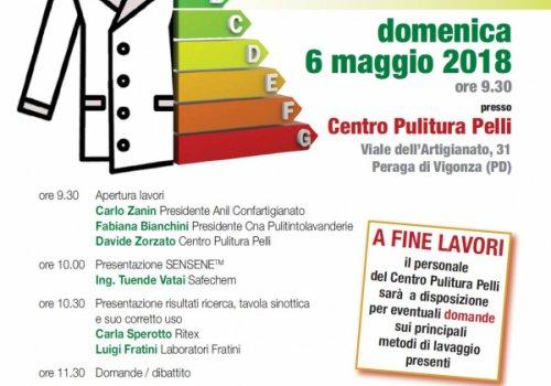 Pulitintolavanderie, evento formativo organizzato dalla CNA del Veneto il 6 maggio