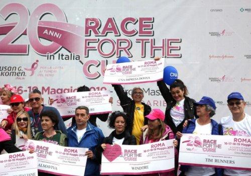 La squadra di Cna Impresa Donna sul podio della Race for the cure di Roma, la più grande Race al mondo!