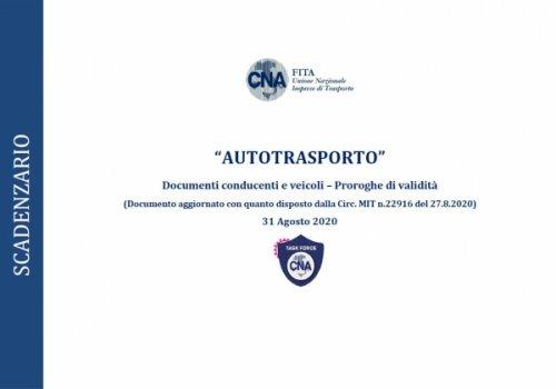 Autotrasporto - Scadenzario proroga Validità documenti