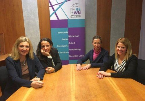 """Nasce Rete Economia Donna - Wirtschaftsnetz Damen per sviluppare e valorizzare l'imprenditoria femminile. """"Stop alle quote rosa, venga riconosciuta la competenza manageriale che già esiste"""""""