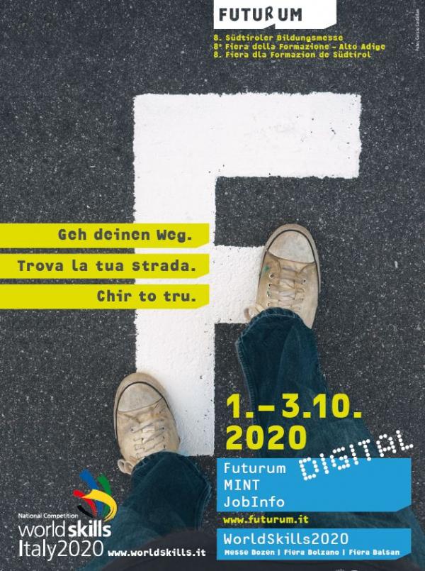 Dal 1° al 3 ottobre 2020 si terrà l'8^ Fiera della Formazione FUTURUM con le manifestazioni di contorno Mint, JobInfo e Worldskills Itlay 2020