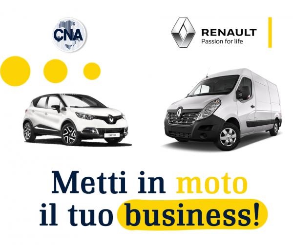 Metti in moto il tuo business! Con Renault forti sconti per le imprese associate a CNA