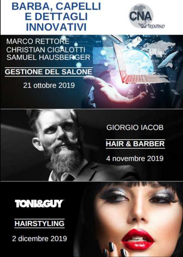 """""""Barba, capelli e dettagli innovativi"""". Tre eventi informativi organizzati da CNA del Trentino. Si parte il 21 ottobre"""