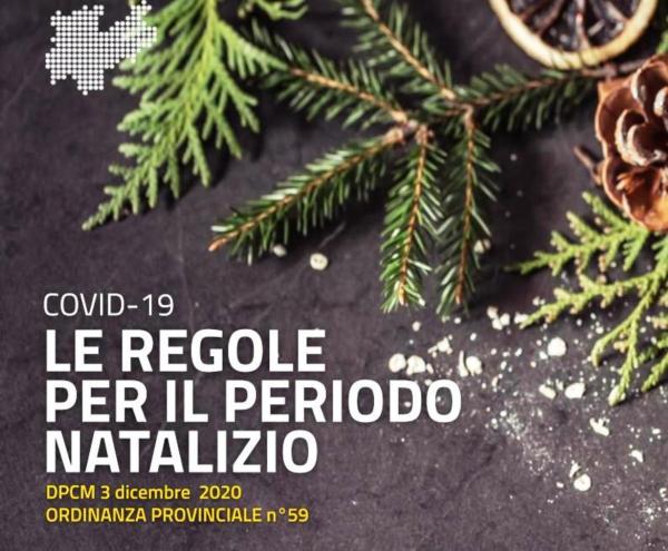 Covid-19: le misure per il periodo natalizio in Trentino