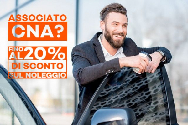 Scegli Maggiore per noleggiare la tua auto, usufruirai del 20% di sconto e supplemento seconda guida gratuita grazie a CNA