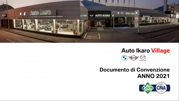 Confermata la convenzione tra CNA-SHV e la concessionaria Auto Ikaro (MINI, BMW, Mazda). Ecco le offerte per il 2021 |  Bestätigt die Vereinbarung zwischen CNA-SHV und dem Autohändler Auto Ikaro (MINI, BMW, Mazda). Hier sind die Angebote für 2021