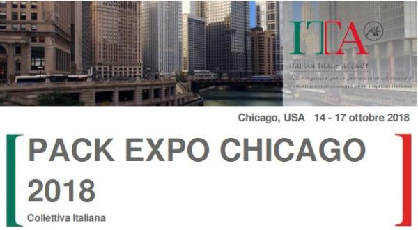 COLLETTIVA ITALIANA ALLA PACK EXPO CHICAGO 2018 - Deadline 30 novembre 2017