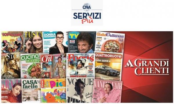 Fino all'80% di sconto sulle riviste Mondadori. Per questo Natale regala un anno di lettura a un prezzo scontato grazie a CNA