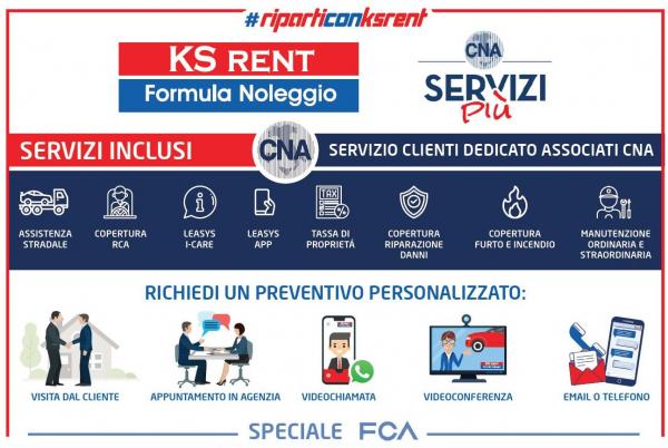 Riparti con KSRent e CNA: auto e furgoni, formula noleggio. Nuova sede a Trento