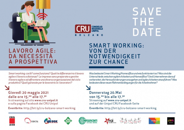 Lavoro agile: da necessità a prospettiva. Il 20 maggio evento in streaming di CRU Unipol e CNA. Partecipa!