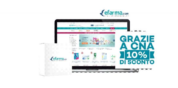 La tua farmacia online con il 10% di sconto grazie a CNA