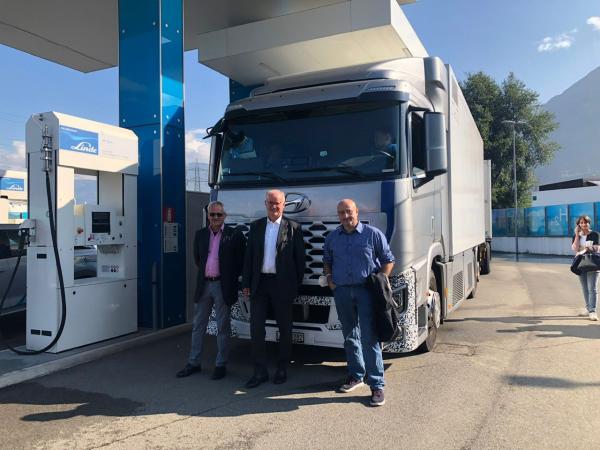 Corridoio del Brennero: primi test di camion con celle a combustibile alimentate a idrogeno