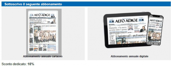CNA-SHV rinnova la convenzione con il quotidiano Alto Adige. Per gli associati sconto del 10% sugli abbonamenti cartacei e digitali